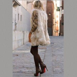 Rachel Zoe Faux Fur Vest Size 1X